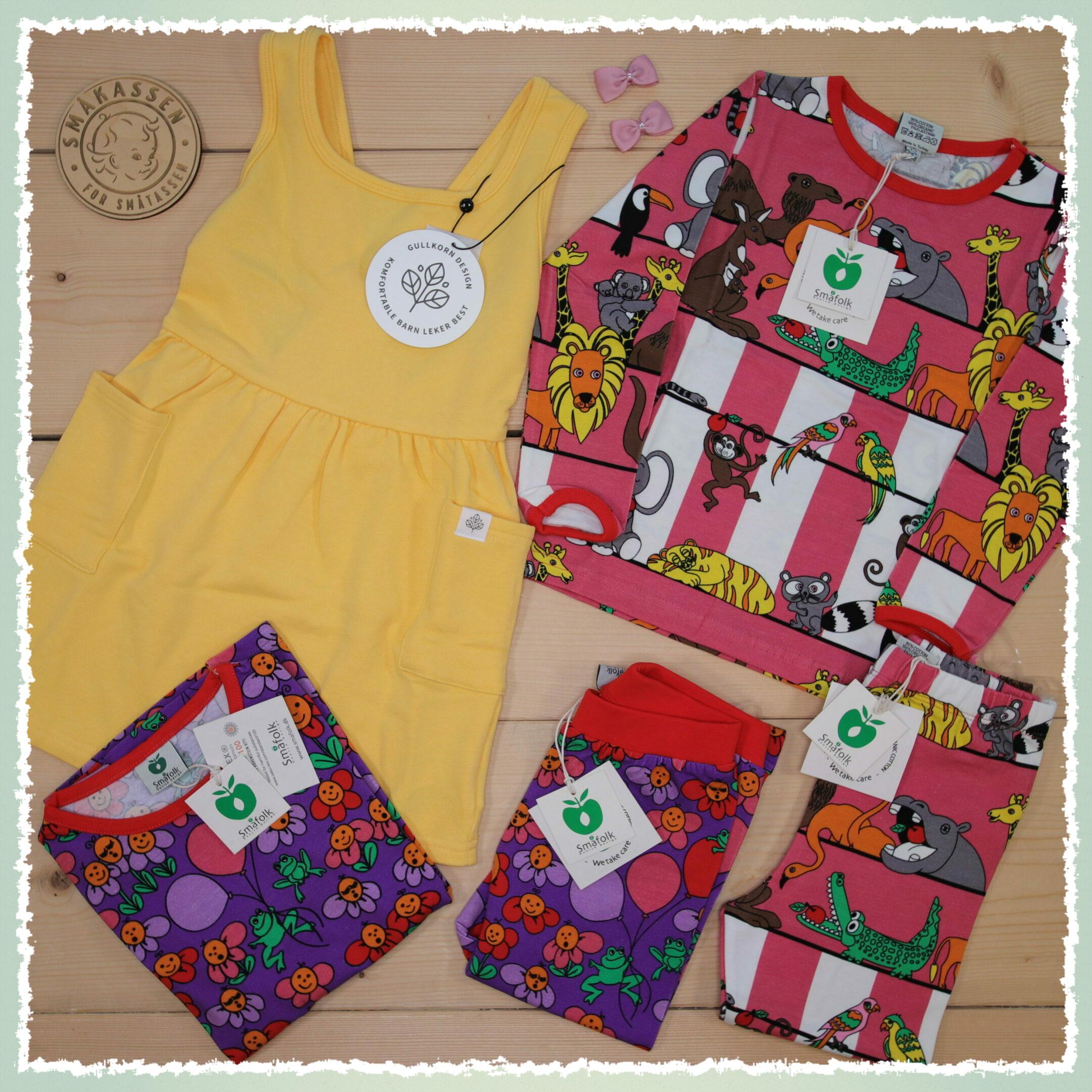 😍 Colorful news from Gullkorn and Småfolk 😍 #ss21  Dette er Småpakke som vi forberedte for en jente i stilene cool og colorful