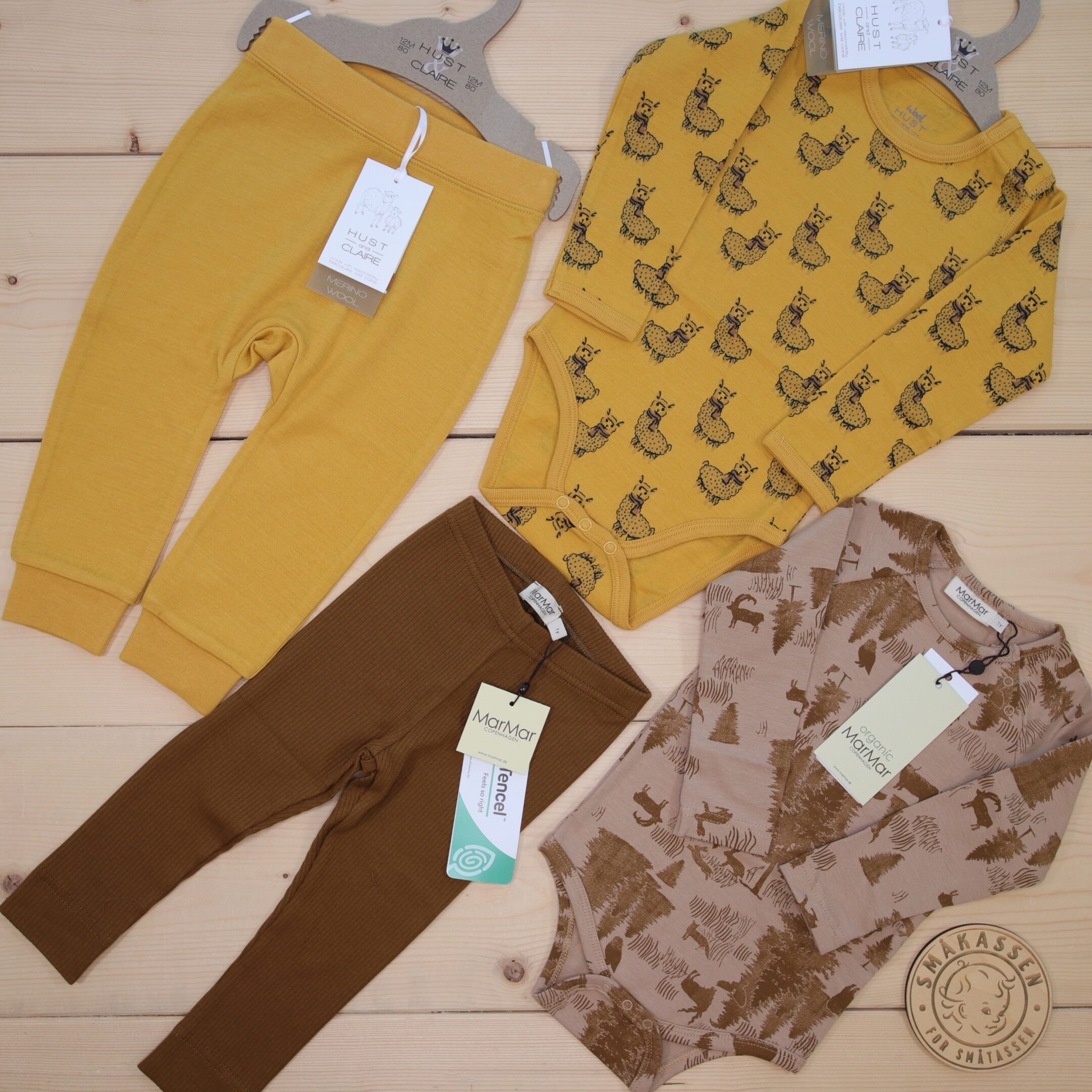 Cute animal print from Hust and Claire and MarMar 🤩 We love the beautiful autumn colors❣️ 🍂🍁🍄        Dette er Småpakke som vi forberedte  i stilen cool