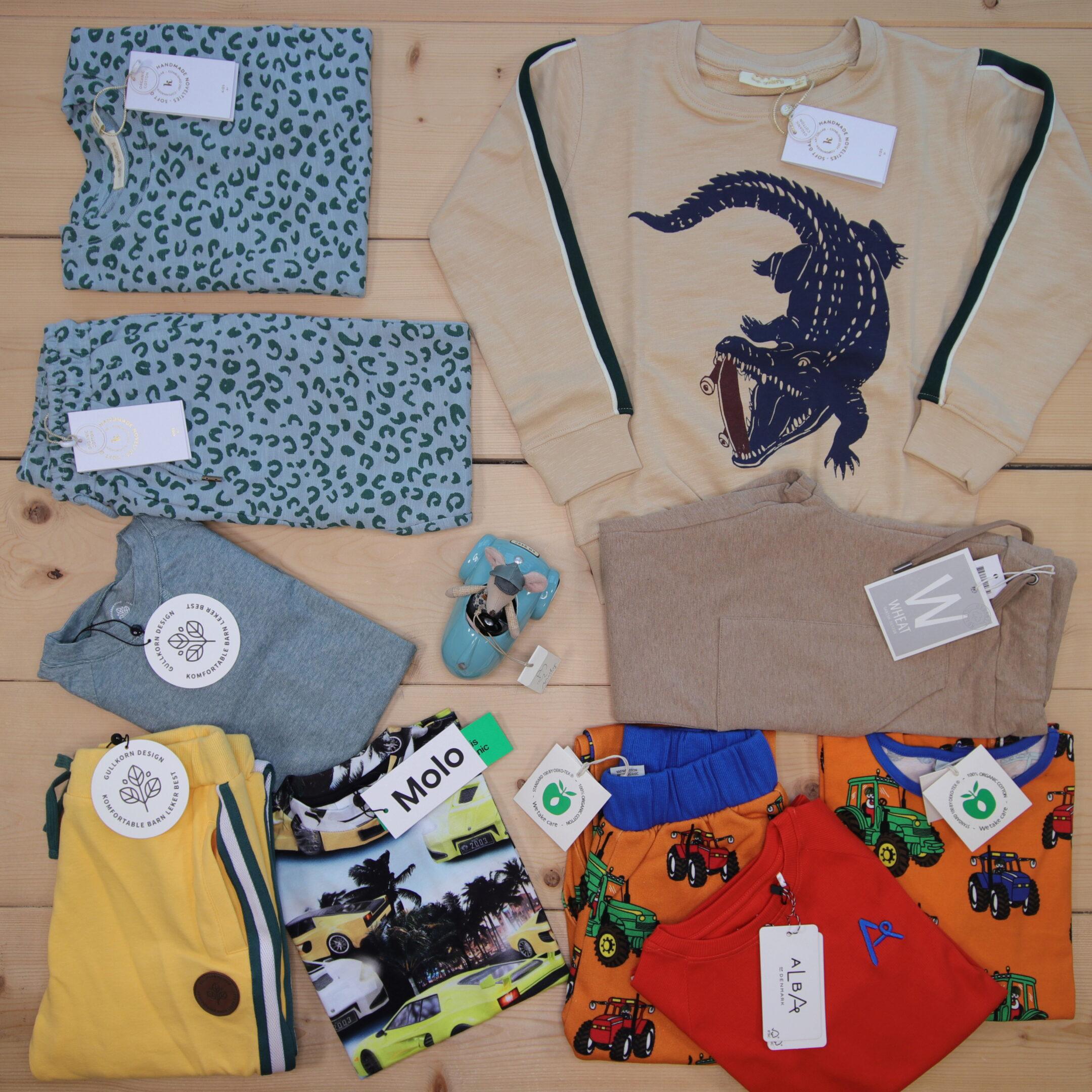 Dette er Småpakke som vi forberedte for en gutt i stilene colorful og cool