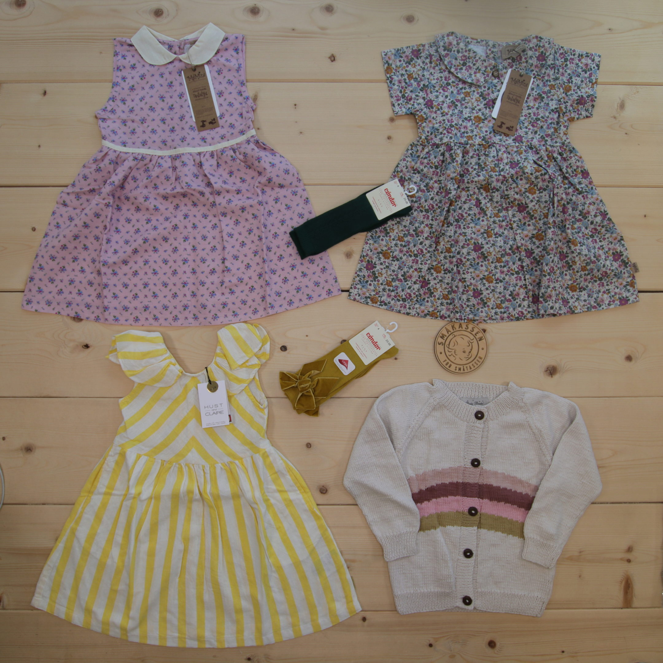 This is a 2500 NOK* Småkassen that we prepared for a girl  in the styles cute, cool, and colorful in size 104