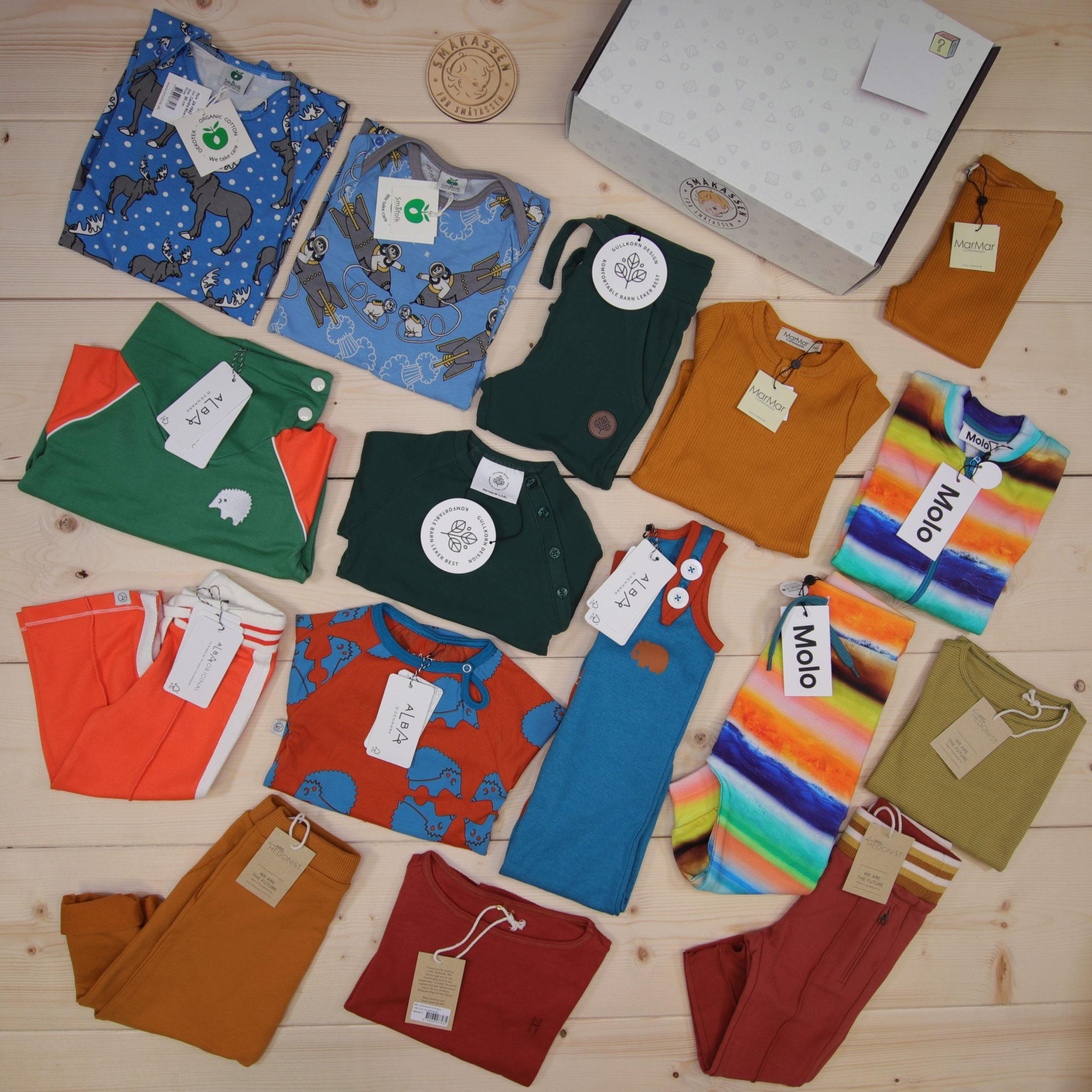 Dette er en 5000 NOK* The Childish Stylist som vi forberedte for en gutt i stilene cool og colorful i størrelse 86
