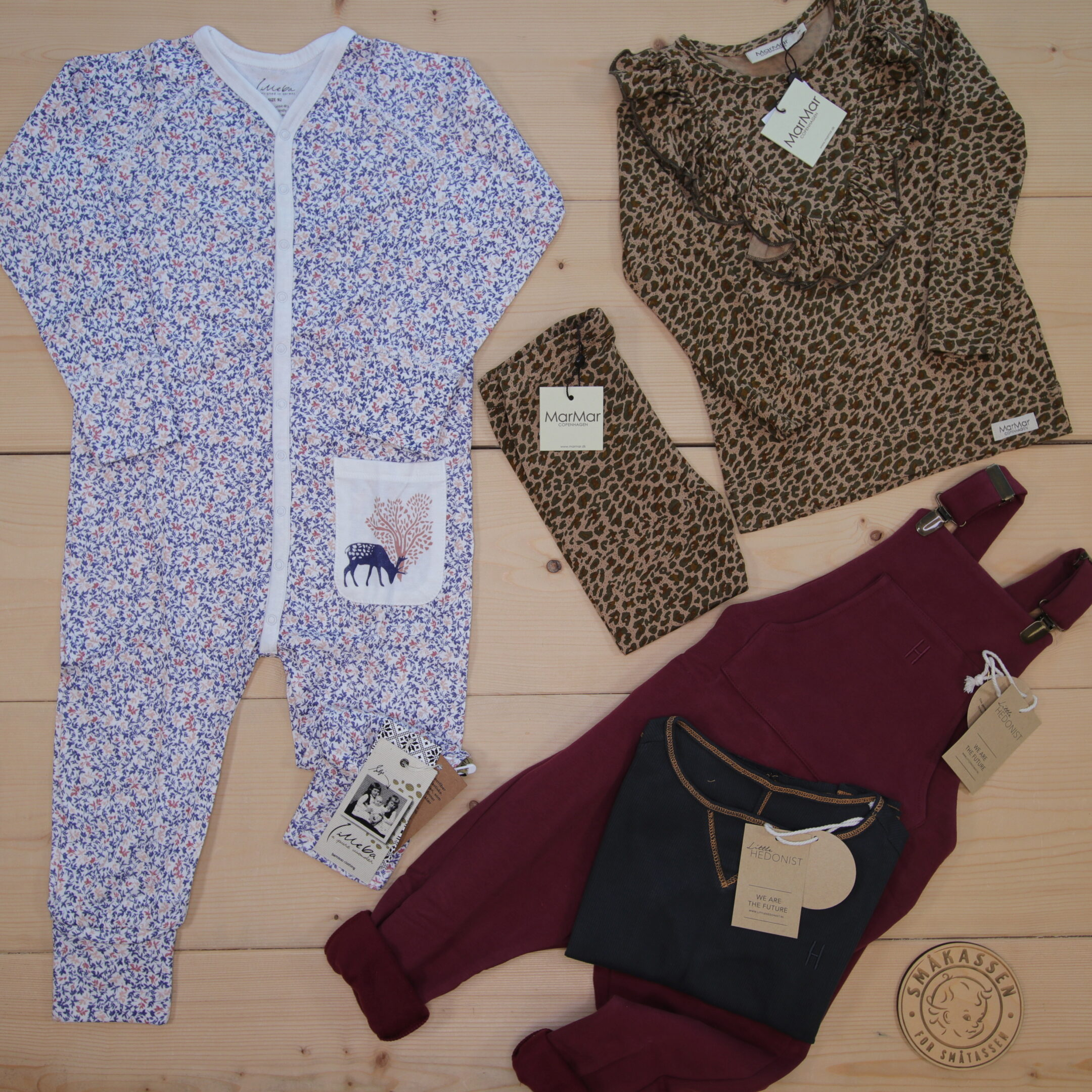 This is a 2000 NOK* Småkassen that we prepared for a girl  in the styles cute and cool in size 92