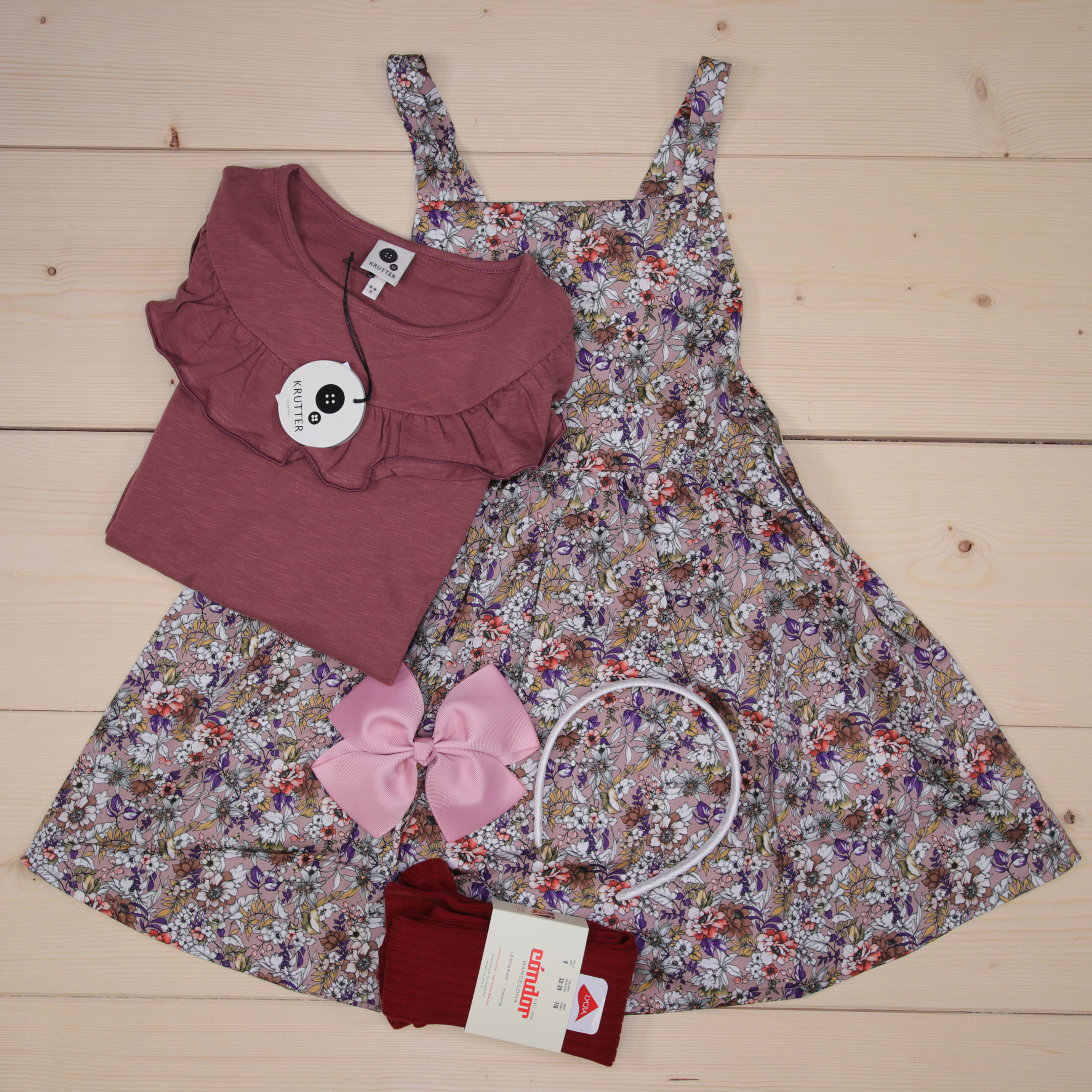 This is a 91 GBP* Småkassen that we prepared for a girl  in the styles cute and colorful in size 134