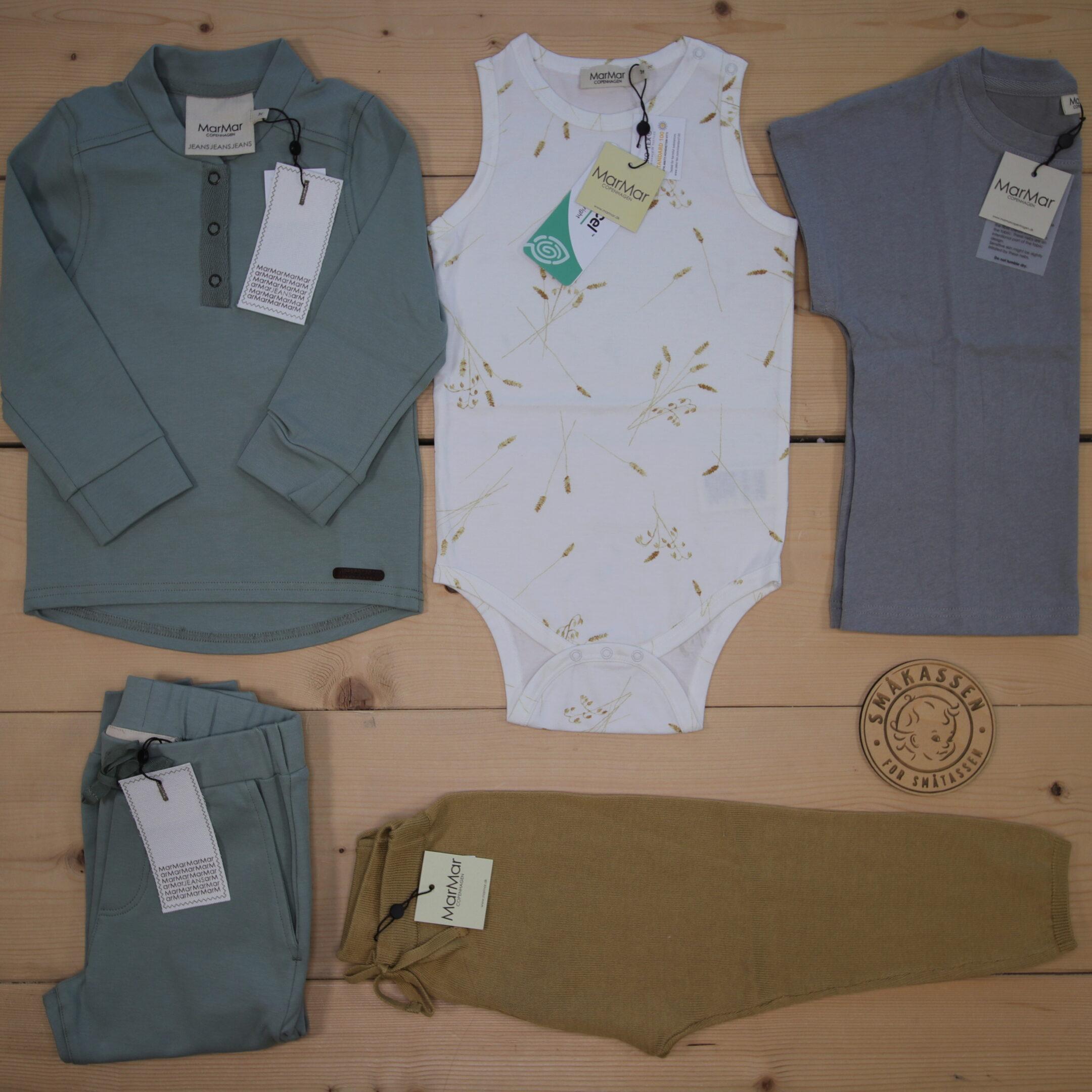 Dette er Småpakke som vi forberedte for en gutt i stilene cute og minimalistic