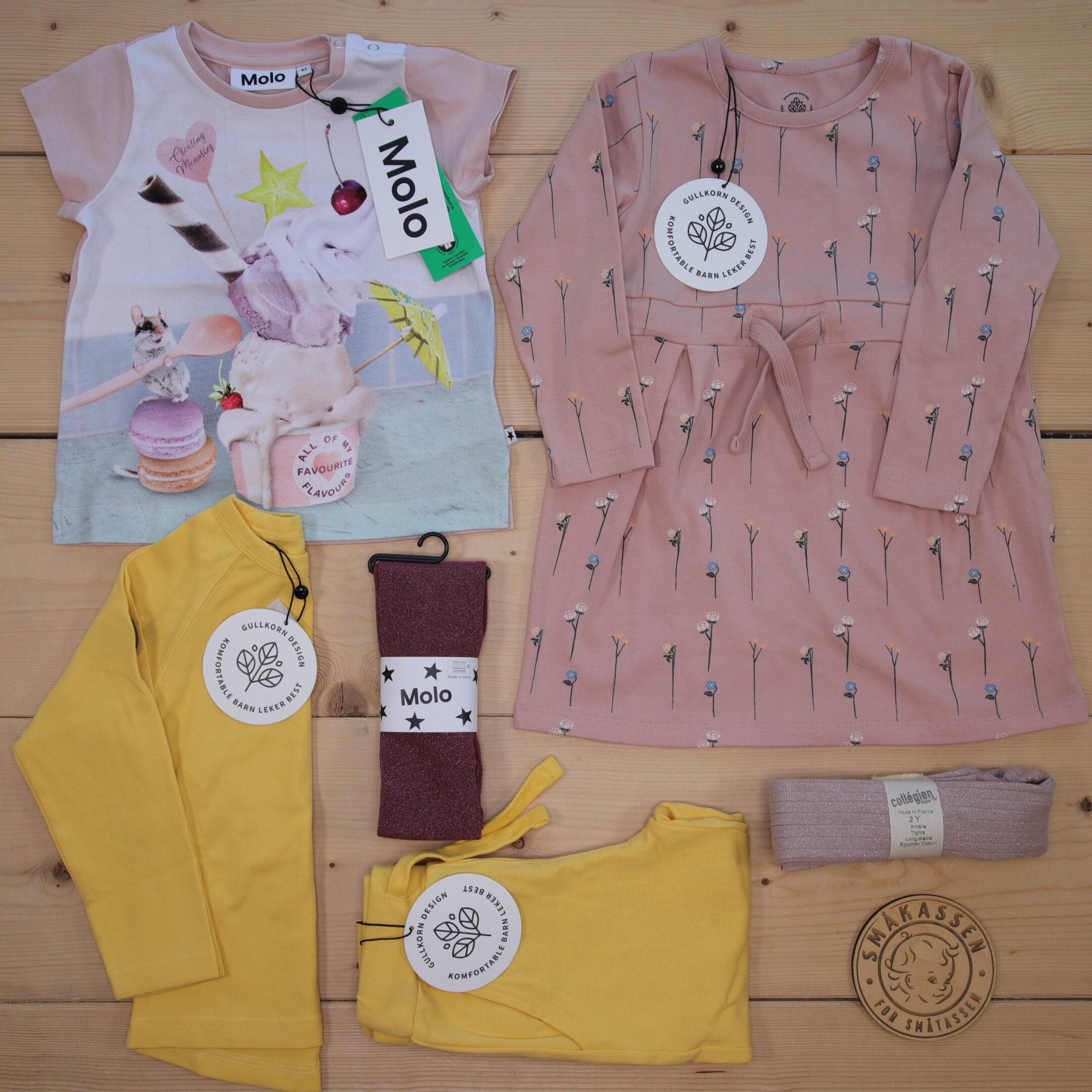 Dette er en 1500 NOK* The Childish Stylist som vi forberedte for en jente i stilene colorful og cute i størrelse 86