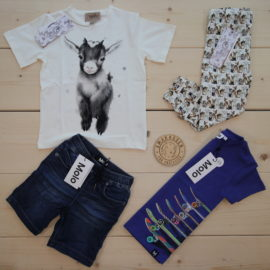 This is a The Childish Stylist that we prepared for a boy in the styles cute and cool in size 104.