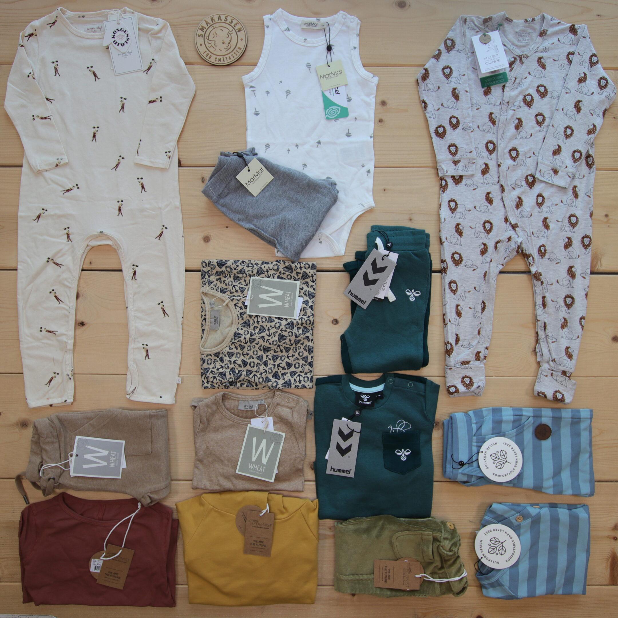 Dette er Småpakke som vi forberedte for en gutt i stilene cute, cool, og minimalistic