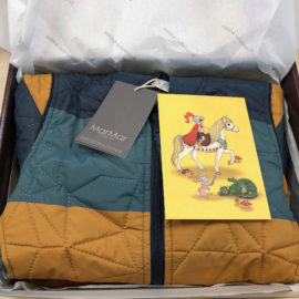 This box is soon on its way to a lucky boy in Switzerland 🇨🇭💛  This is part of a Småkassen that we prepared for a boy in the styles cute and cool in size 116 on 12-02-2020 11:53.  MarMar - orry - Jacket