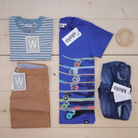 This is a The Childish Stylist that we prepared for a boy in the style cool in size .