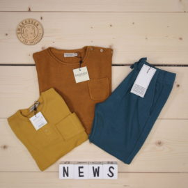 🔸🔸🔸Summer/Spring 2020 News from MarMar 🔸🔸🔸  Beautiful soft colors and fabrics ❤️  ✓ MarMar - Tee LS Golden - Long-sleeved t-shirt  ✓ MarMar - Tade Pumpkin Pie - Sweater ✓ MarMar - Porter - Pants   #marmar @marmarcopenhagen